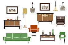 Interior and furniture icons