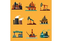 Petroleum and gas industry icons