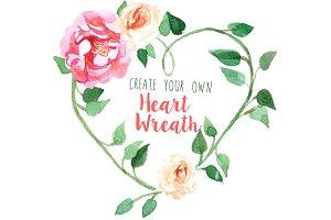 Create Your Own Heart Wreath