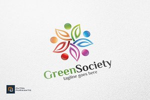 Green Society / Leaf - Logo Template