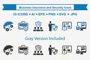 Business Insurance & Security Icons