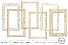 Antique Paper Lace Frames
