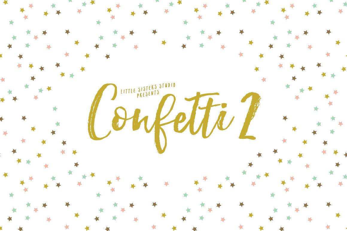 confetti brushes 2 brushes creative market