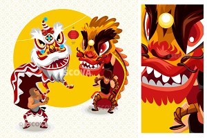 Chinese Lunar New Year Lion Dance