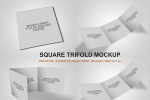 Square Trifold Mockup