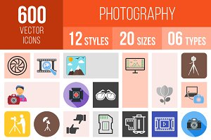 600 Photography Icons