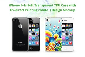 i phone 4-4s TPU Case UV Print Mocku
