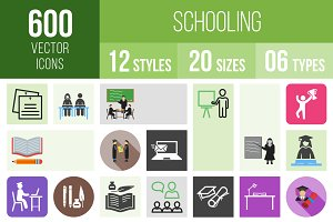 600 Schooling Icons