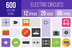 600 Electric Circuits Icons