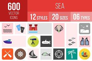 600 Sea Icons
