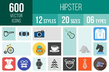 600 Hipster Icons