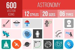 600 Astronomy Icons