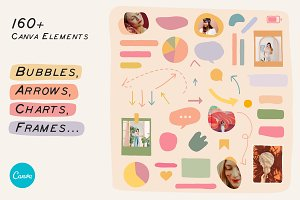 CANVA Elements Bubbles Arrows Frames