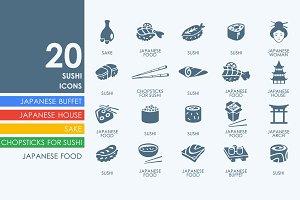 20 Sushi icons