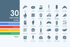 30 Fast Food icons