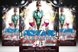 Private Club Parties Flyer Template