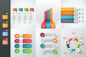 Diagrams for business infographic v7