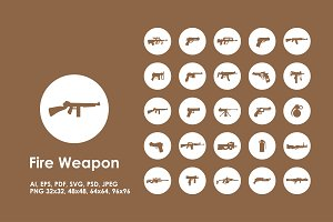 Fire Weapon icons