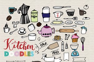 Kitchen Doodles - Vector Set