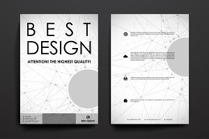 Brochures. Molecular structure style