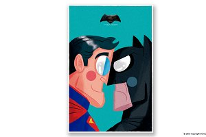 BATMAN v SUPERMAN poster geek