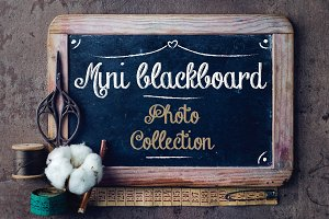 Mini blackboard photo collection