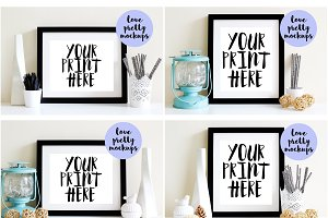 8X10 MOCKUP BUNDLE. 4 DISPLAY FRAMES