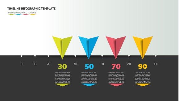Timeline arrow template layout.