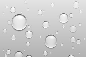 Vector Water Drops