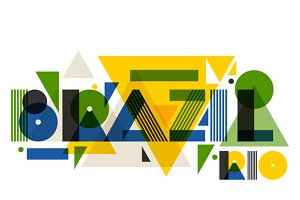 Brazil and Rio in abstract style.