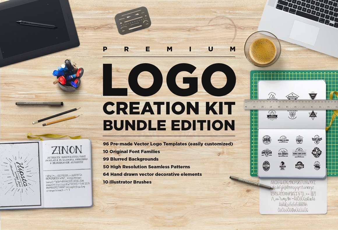Logo creation kit bundle edition templates