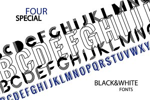 Four special fonts