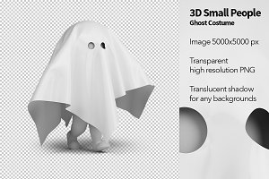 3D Small People - Ghost Costume
