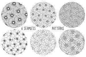 Black & White Flower Patterns