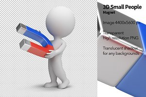 3D Small People - Magnet