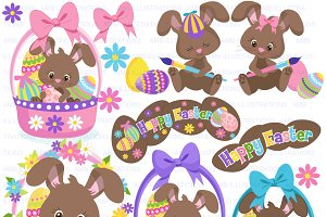 Chocolate Easter Bunny Clipart 1176