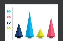 Chart, graph.  3D diagram.