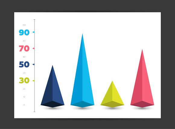 Chart, graph. 3D diagram. - Objects