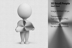 3D Small People - Steel Cloud