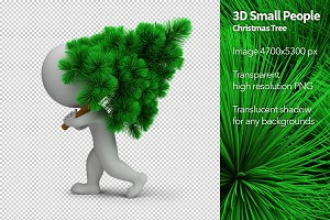3D Small People - Christmas Tree