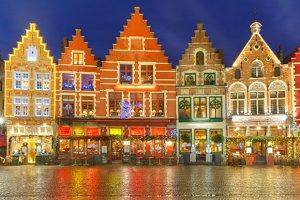 Old Markt square in Bruges