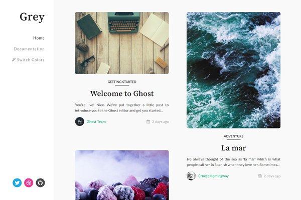 Ghost Themes: Stefan - Grey - Responsive & Elegant