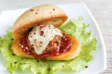 Sandwich with meatball
