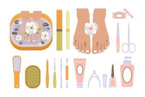 Nail polish and spa pedicure
