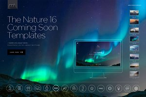 Nature Coming Soon Pack 16 Templates