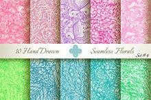 10 Ornate Seamless Florals. Set #4