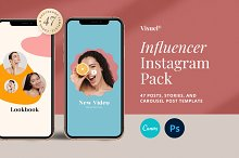 Influencer Instagram Pack | PS CANVA by  in Social Media
