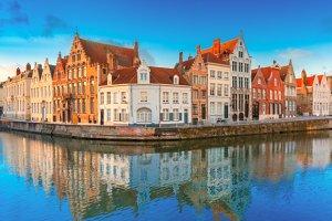 Bruges canal Spiegelrei