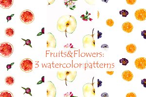 'Fruits and Flowers' patterns