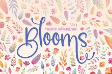 Blooms Font Family by  in Fonts